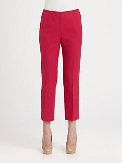 Lafayette 148 New York - Cropped Stretch Cotton Pique Straight-Leg Pants