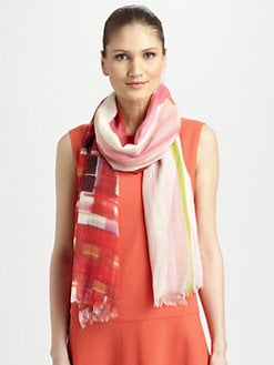 Lafayette 148 New York - Wool/Silk Printed Scarf