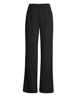 Lafayette 148 New York - Stretch Crepe de Chine Studio Pants