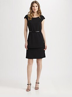 Lafayette 148 New York - Layered-Hem Sheath Dress