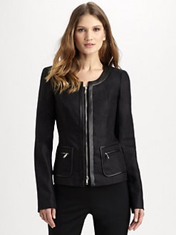 Lafayette 148 New York - Leather-Trim Neve Jacket