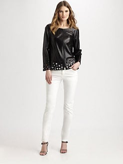 Lafayette 148 New York - Hand-Cut Leather Jacket