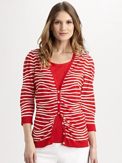Lafayette 148 New York - Zebra-Print Cardigan