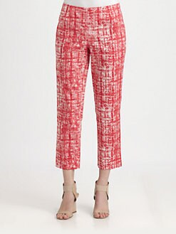 Lafayette 148 New York - Printed Cropped Bleeker Pants