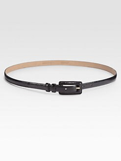 Lafayette 148 New York - Stitched-Buckle Skinny Belt