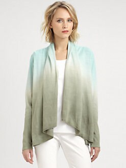 Lafayette 148 New York - Dip-Dyed Shawl Cardigan