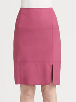 Lafayette 148 New York - Seamed Leather Skirt