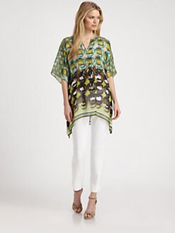 Lafayette 148 New York - Print Silk Top