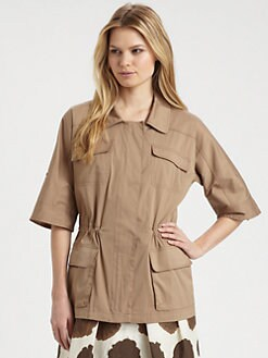 Lafayette 148 New York - Short-Sleeved Topper Jacket
