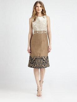 Lafayette 148 New York - Colorblocked Linen Dress