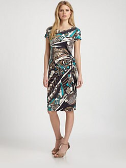 Lafayette 148 New York - Abstract Print Knit Dress