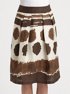 Lafayette 148 New York - Pleated Linen Skirt