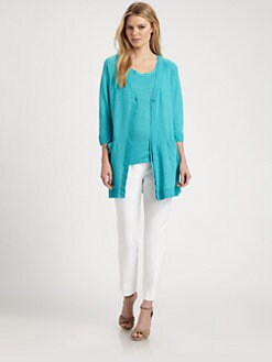 Lafayette 148 New York - Long One-Button Cardigan