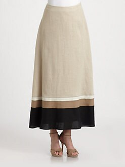 Lafayette 148 New York - Linen Maxi Skirt