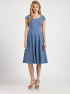 Lafayette 148 New York - Jersey-Top Flared Dress