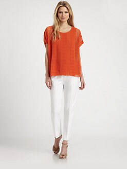Lafayette 148 New York - Linen Drop-Needle Sweater
