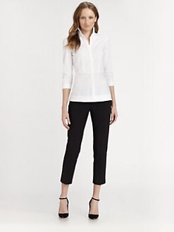 Lafayette 148 New York - Ellis Novelty-Stitch Blouse