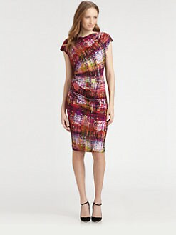 Lafayette 148 New York - Printed Cap-Sleeve Dress