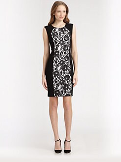 Lafayette 148 New York - Lace-Front Dress