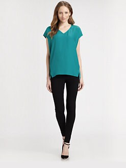 Lafayette 148 New York - Oversized V-Neck Top