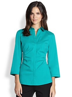 Lafayette 148 New York - Italian Stretch Cotton Leigh Blouse