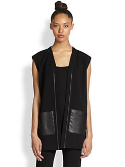 Lafayette 148 New York - Mixed-Media Vest
