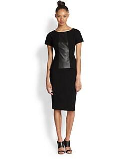 Lafayette 148 New York - Alesandra Contrast-Panel Dress