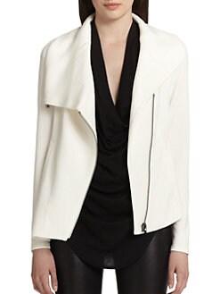 Helmut Lang - Villous Asymmetrical Knit Jacket