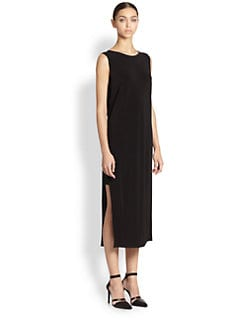 Helmut Lang - Faint Split-Hem Cutout-Back Dress