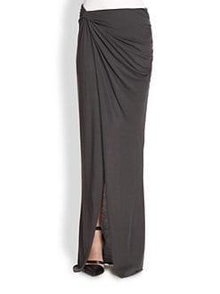 Helmut Lang - Lush Asymmetrical Draped & Twisted Maxi Skirt