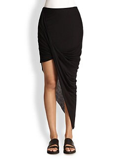 Helmut Lang - Kinetic Asymmetrical Draped & Twisted Skirt