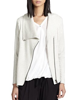 Helmut Lang - Villous Asymmetrical Stretch Knit Jacket