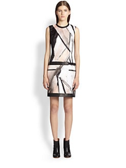 Helmut Lang - Flesh-Print Duchess Dress