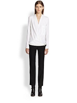 Helmut Lang - Morse Draped Top