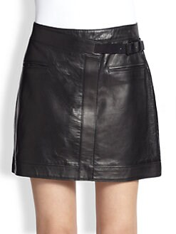 Helmut Lang - Ink Leather Mini Skirt