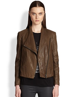 Helmut Lang - Washed Leather Moto Jacket