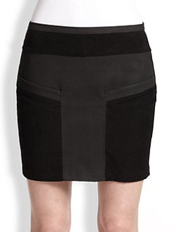 Helmut Lang - Coated Twill Mini Skirt