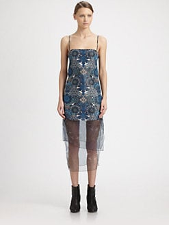 Helmut Lang - Printed Mesh-Panel Dress