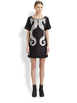 Helmut Lang - Seahorse-Print Dress