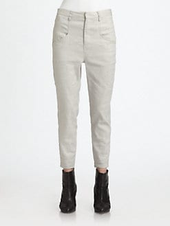 Helmut Lang - Glossy Linen-Blend Pants