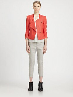 Helmut Lang - Gloss Stretch-Linen Blazer