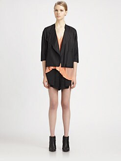 Helmut Lang - Lacquered Overlap Jacket