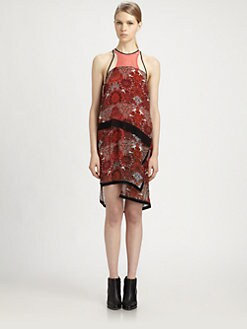 Helmut Lang - Man Vis Printed Dress