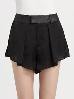 Helmut Lang - Chroma Draped Shorts