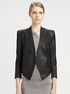 Helmut Lang - HELMUT Helmut Lang Coated Tux Blazer