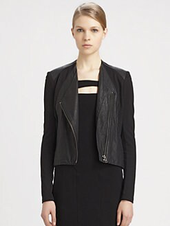 Helmut Lang - HELMUT Helmut Lang Washed Leather Jacket