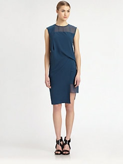 Helmut Lang - Draped Crepe Dress