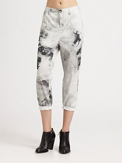 Helmut Lang - Smudge-Print Skinny Jeans
