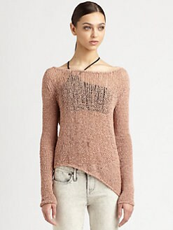 Helmut Lang - Textured Tape Yarn Sweater