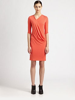 Helmut Lang - Feather Jersey Dress